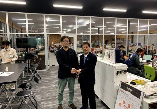 宮下内閣府副大臣が当社をご訪問されました。