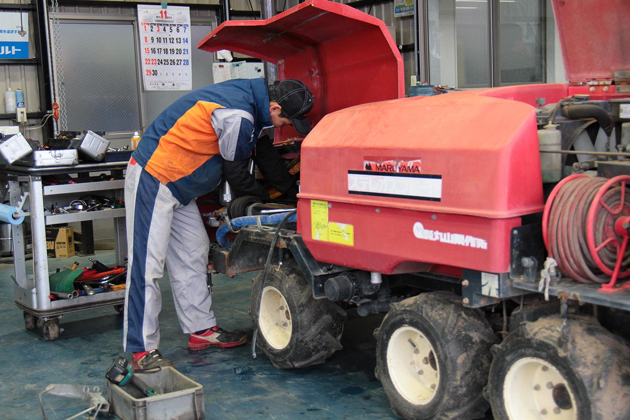 株式会社唐沢農機サービス 基幹部分の整備など重整備
